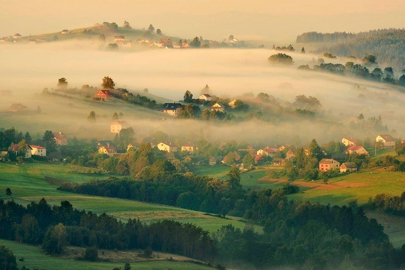 beskidy, inversion, landscape, morning Under the blanketphoto preview
