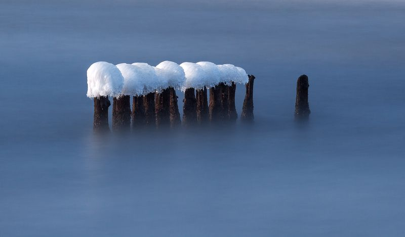 water, winter, long exposure, poland, baltic, Balticphoto preview
