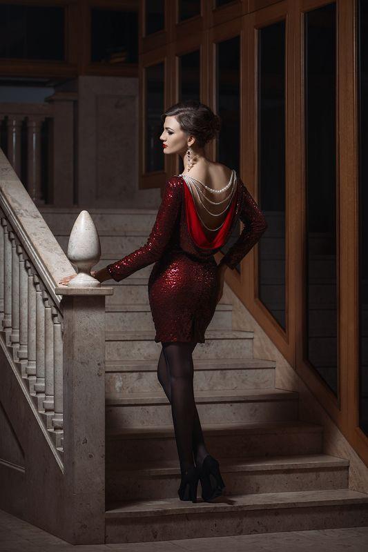 девушка, лестница, платье, Nikon, D800, 2017 ***photo preview