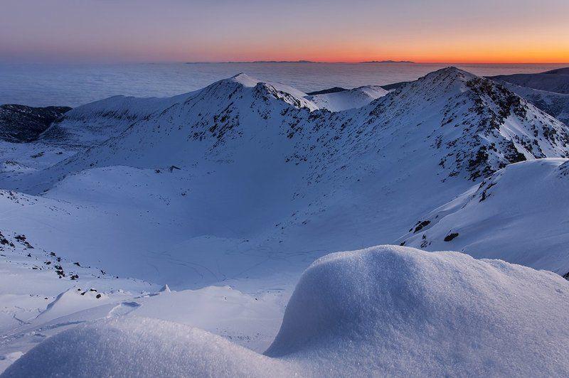 болагрия, рассвет, рила, горы, зима Рилаphoto preview