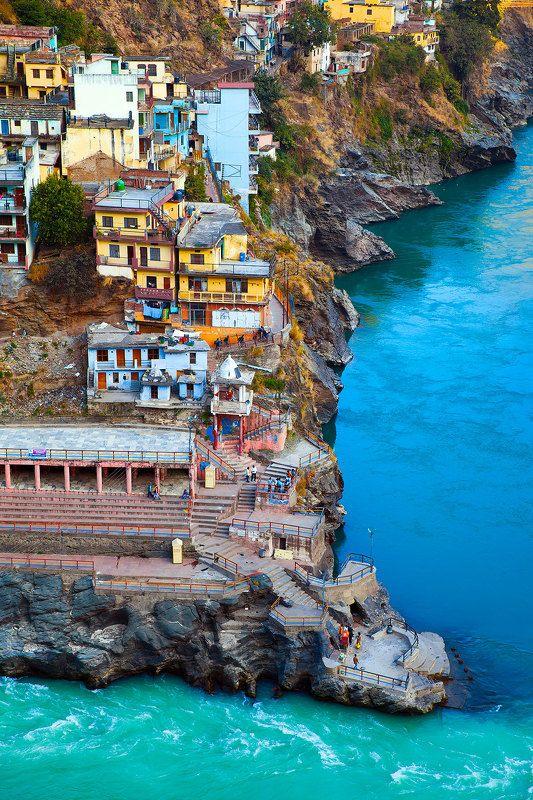 путешествие, индия, гималаи, горы, пейзаж, природа Девпраягphoto preview