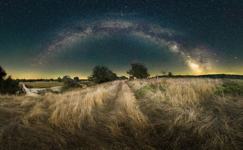 astrophotography, astronomy, galaxy, milky way, nightscape, night, sky, stars, long exposure, nature, bulgaria, space, panorama Crossroadsphoto preview