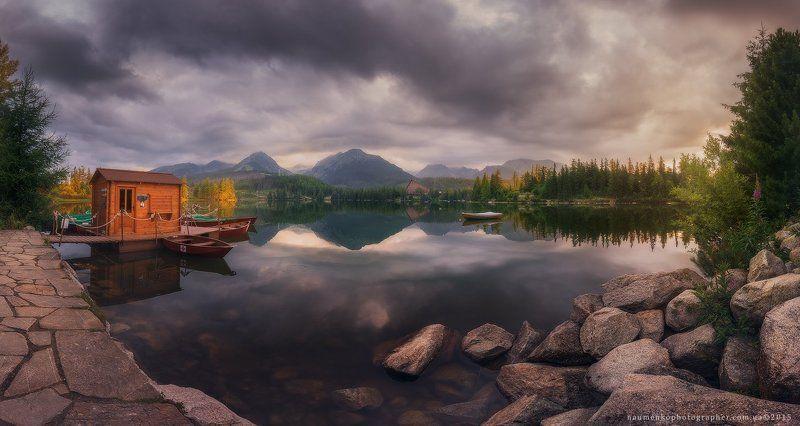 Словакия. Высокие Татры. Утро на озере Strbske Plesophoto preview