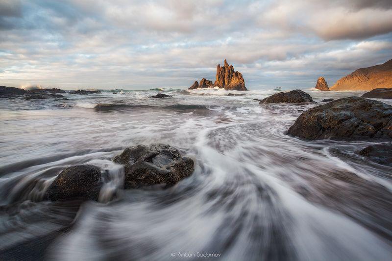 пляж, бениджо, тенерифе, испания, океан, волны, скалы, Benijo, Tenerifephoto preview