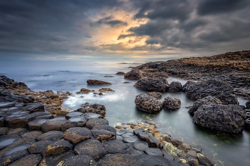 Giant\'s Causeway, Giants Causeway, Ireland, Galway, Northern Ireland, Longexposure, Long exposure, Lee, Sunrise, Sunset, Seascapes Giant\'s Causewayphoto preview