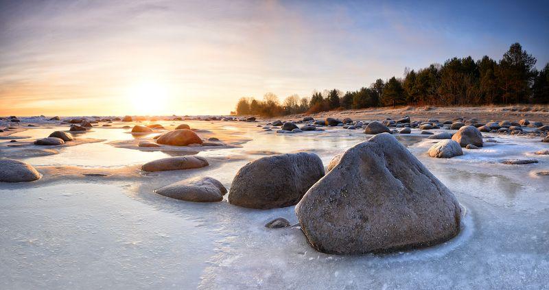 пейзаж лёд латвия Sea of ice photo preview