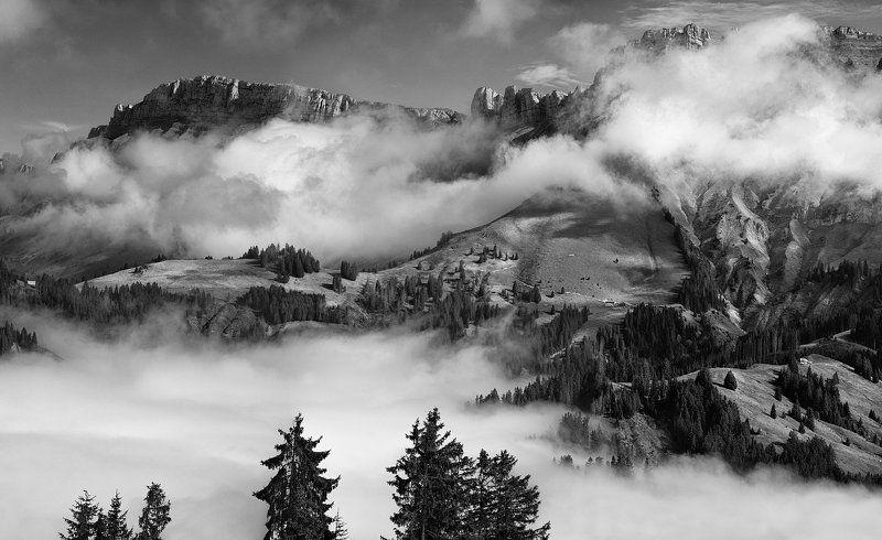 switzerland. alps над облакамиphoto preview