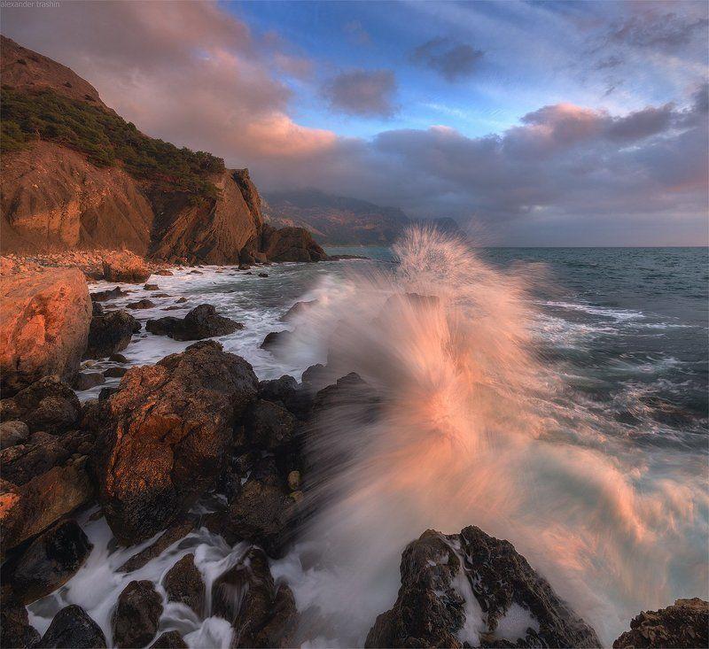 крым, балаклава, закат, зима, серая скала Sound Of Wavesphoto preview