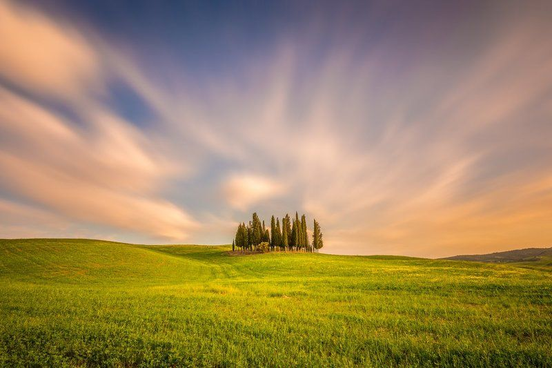 Val d\'Orcia, Pienza, Tuscany, Longexposure, Sunrise, Sunset, Cypress, Long exposure, Lee, Ireland, Galway Tuscanyphoto preview