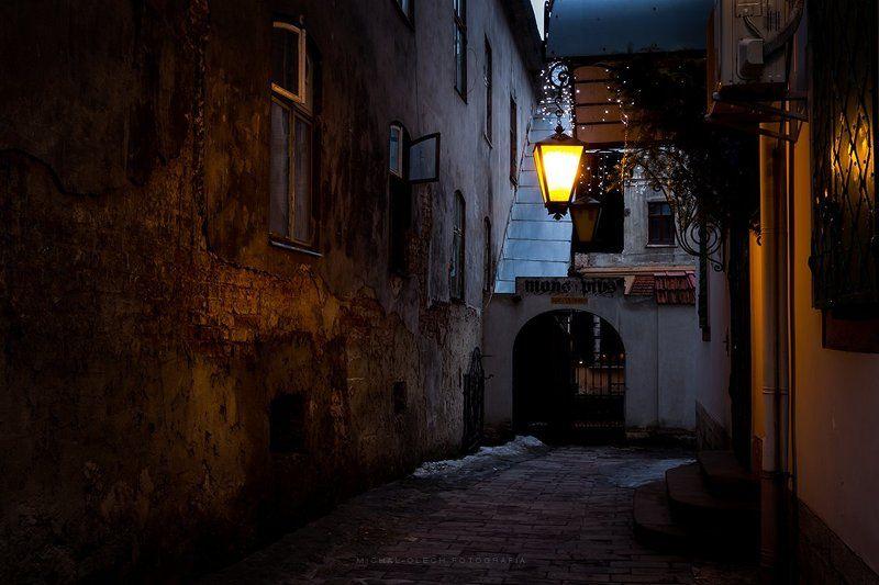 lviv, ukraine, city, cityscape, львов, украина An alley in Lvivphoto preview