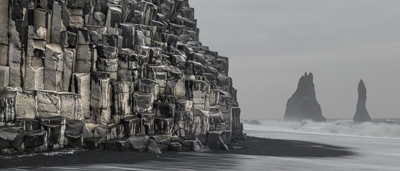 исландия, iceland Черный пляж, черные скалы...photo preview