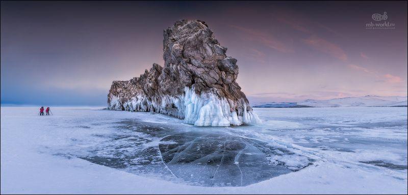 Байкал, зима, лед, закат Зимний Байкалphoto preview