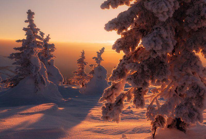 южный урал, хребет большая сука, зюраткуль Знойное солнце зимыphoto preview