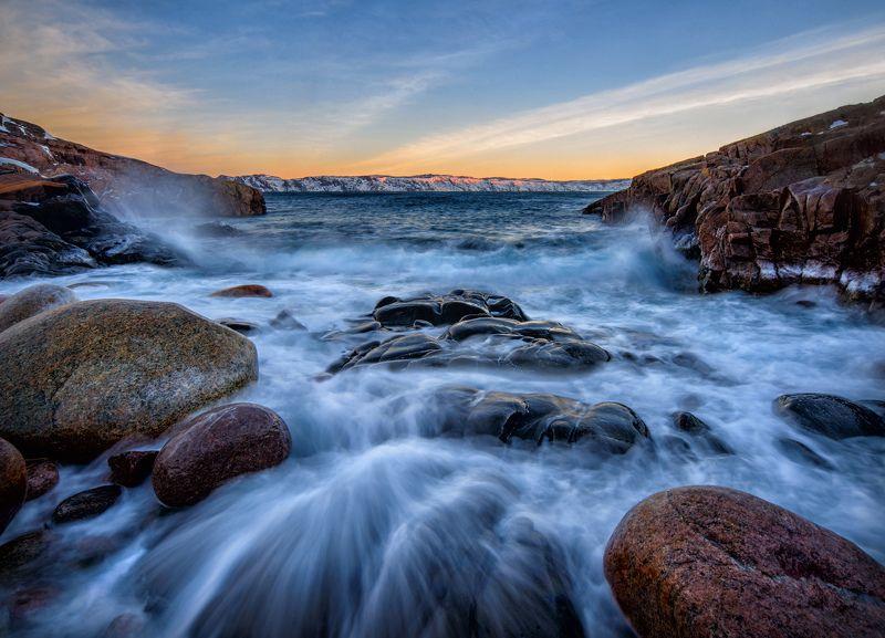 баренцево море, море, кольский, заполярье, рассвет, териберка Нежность заполярного рассветаphoto preview