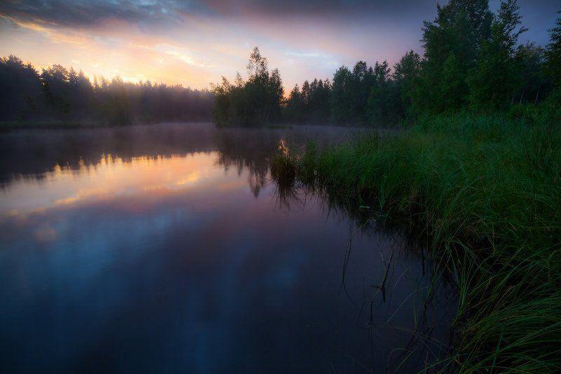 доброе утро, рассвет, озеро, лето, тишина, сказка Доброе утроphoto preview