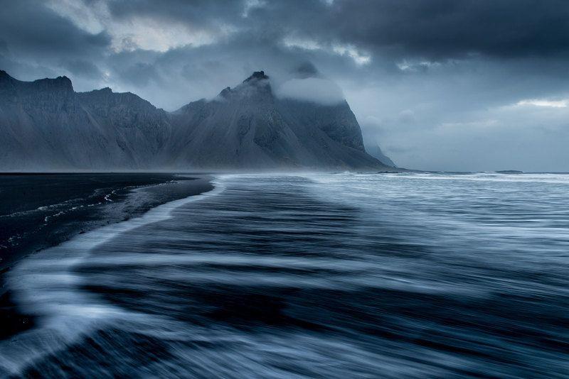 Стоккснес, Исландия Хмурое утроphoto preview