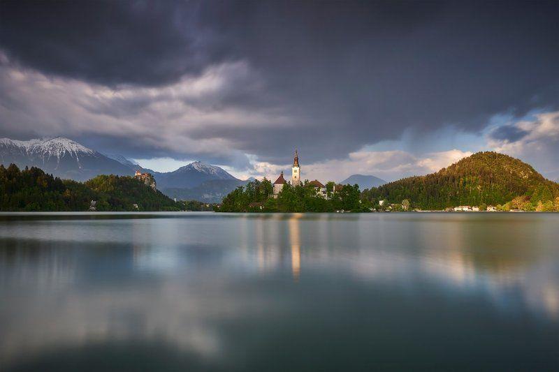 bled, slovenia, sunset Last lightphoto preview