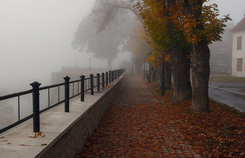 осень, туман, нарва Осенний поцелуй после жаркого летаphoto preview