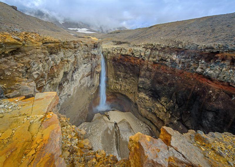 камчатка, водопад, мутновский Опасный водопадphoto preview