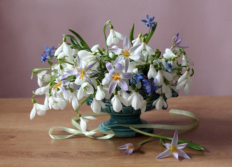 натюрморт, цветы, марина филатова Весенний вальсphoto preview