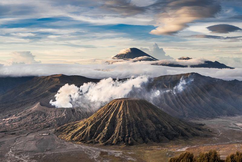 travel, landscape, sunrise, индонезия, ява, вулканы, бромо, пейзаж, рассвет, горы, путешествия Вулканы Бромо, Баток, Семеру.photo preview