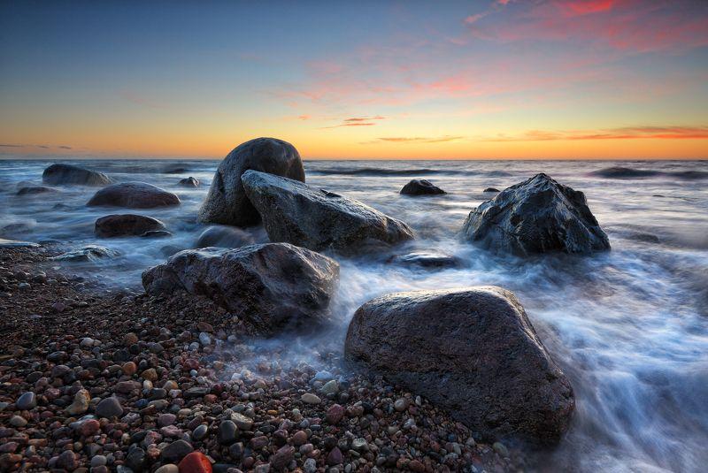море пейзаж закат ***photo preview
