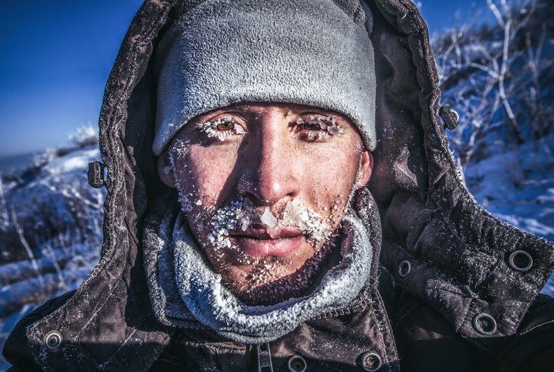 Холод, Мороз, Зима, Лицо, Лёд, Снег, Приморье, Приморский край Замёрзшийphoto preview