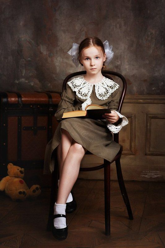 портрет, девочка, ретро, алина ланкина ***photo preview