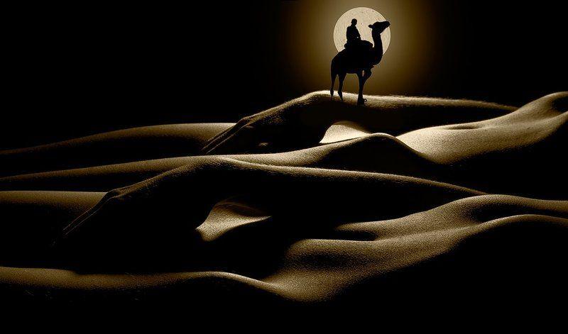 девушки, силуэты, барханы О барханах и бескрайних песках...photo preview