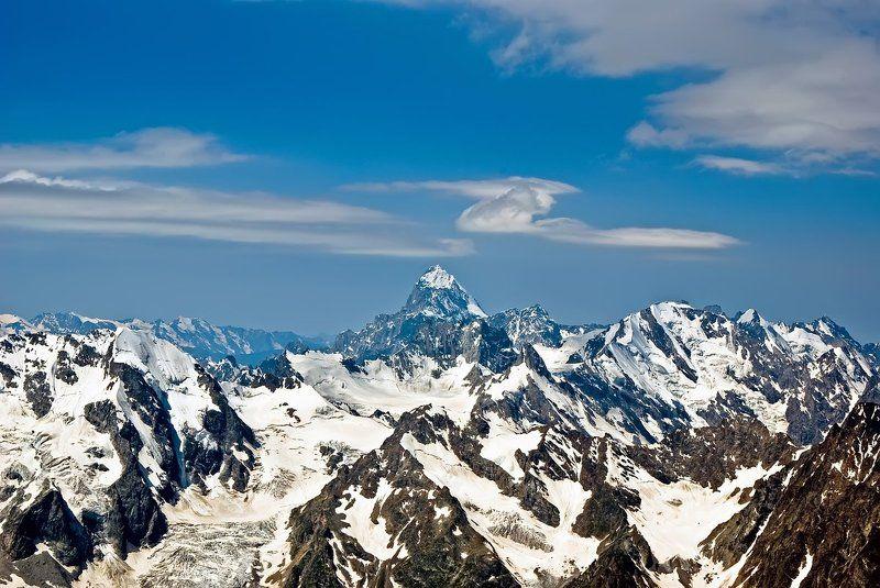 кавказ, приэльбрусье, горы, ушба Профиль Ушбыphoto preview