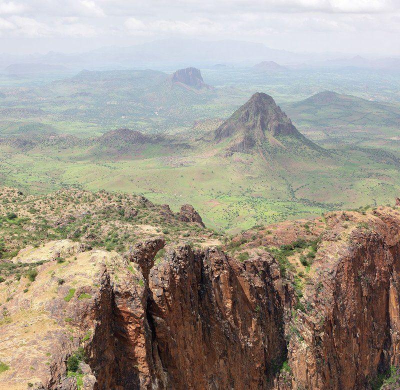 горы, пейзаж, африка, судан, дарфур, полёт Пролетая над орлиным гнездом...photo preview
