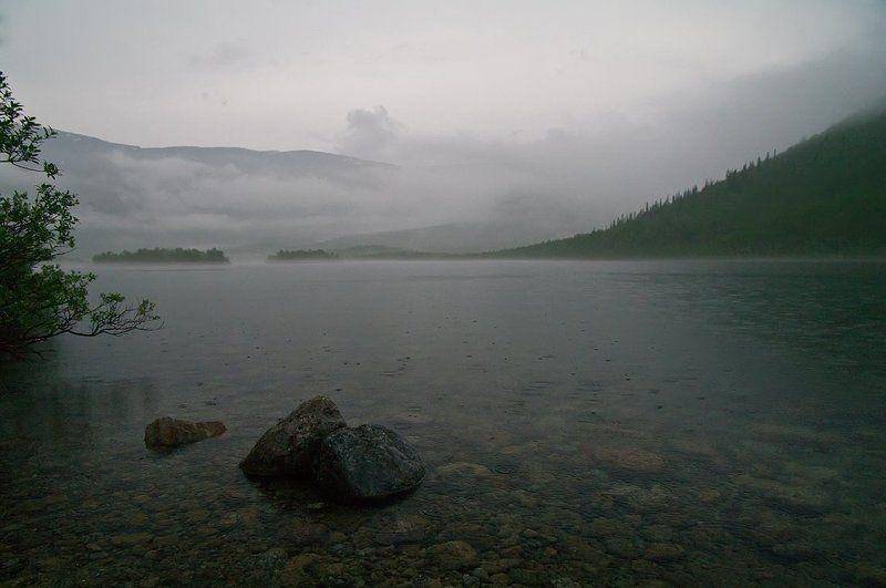 ночь, хибины, непогода, Дождь над Вудьявромphoto preview