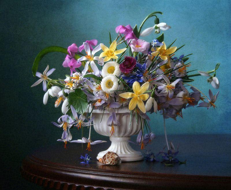 натюрморт, цветы, марина филатова, первоцветы Первых цветов сияние...photo preview