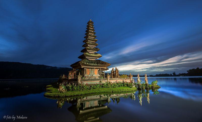 пейзаж, путешествия, бали,Индонезия, рассвет, travel, landscape храм Pura Penataranphoto preview