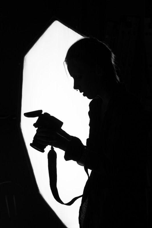 силует фотограф чб Портрет фотографа (Катя Вайнер)photo preview