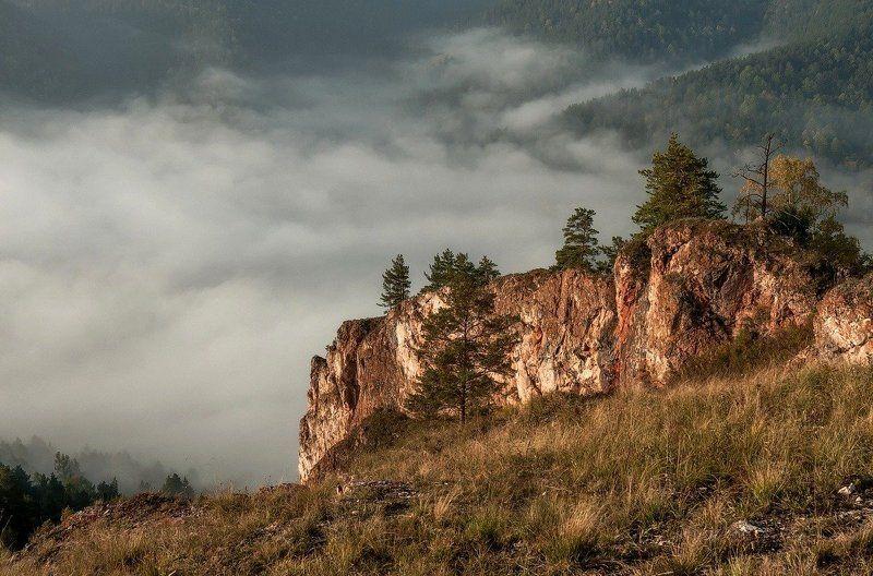 Спускаясь в туман.photo preview