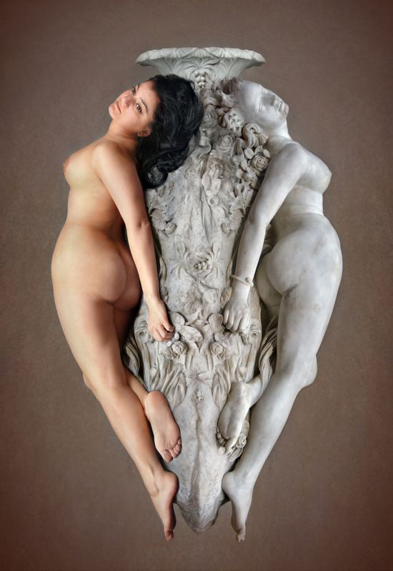 marble, stone, sculpture, art, museum, model, posing, nude, collage, orsay, paris, live, statue Мрамор XIVphoto preview