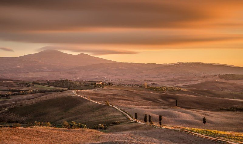 Tuscany, Italy, Longexposure, Long exposure, Lee, Hitech, Sunrise, Sunset, Belveder, Pienza, Val d\'Orcia Tuscanyphoto preview