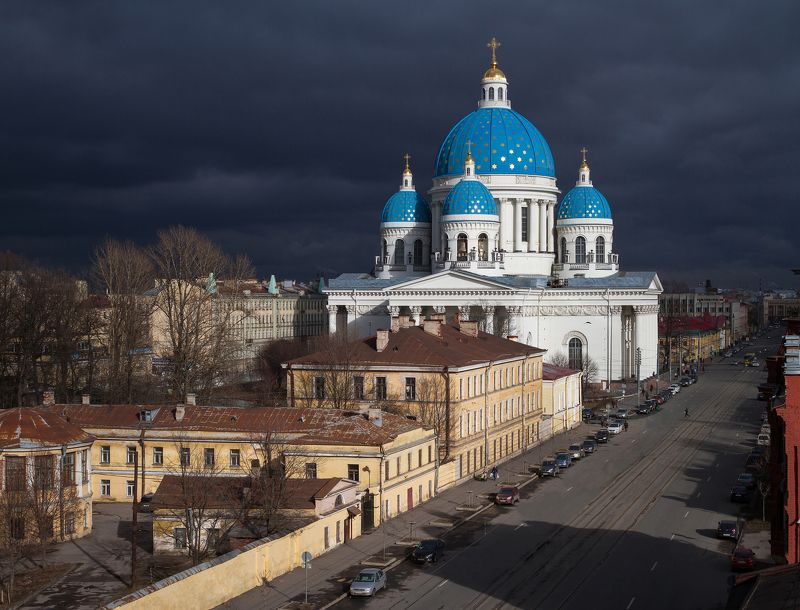 Cityscape, urban exploration, roof, church, cathedral Троицкийphoto preview