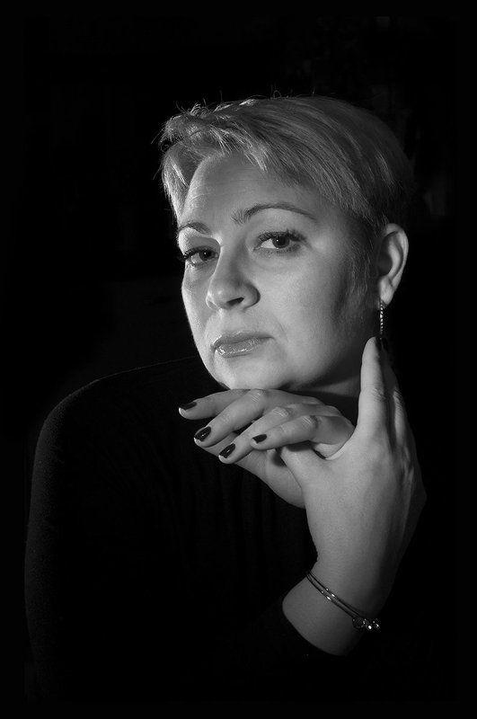 Низкий ключ, женский портрет в низком ключе, Jazzillinni, Александр Никитин, ...photo preview