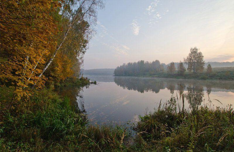 озеро новое осень октябрь природа пейзаж Октябрь на озереphoto preview