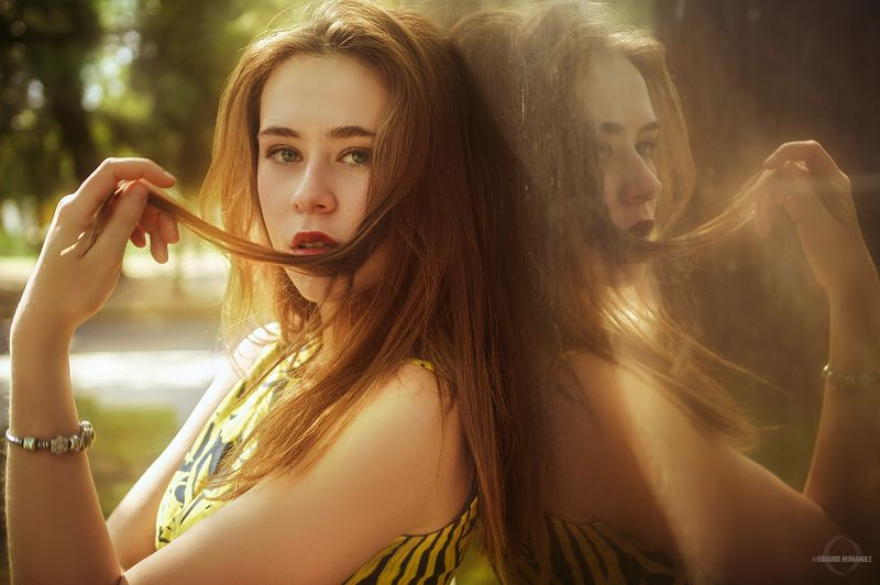 portrait, green eyes, yellow, fine art, Andyphoto preview
