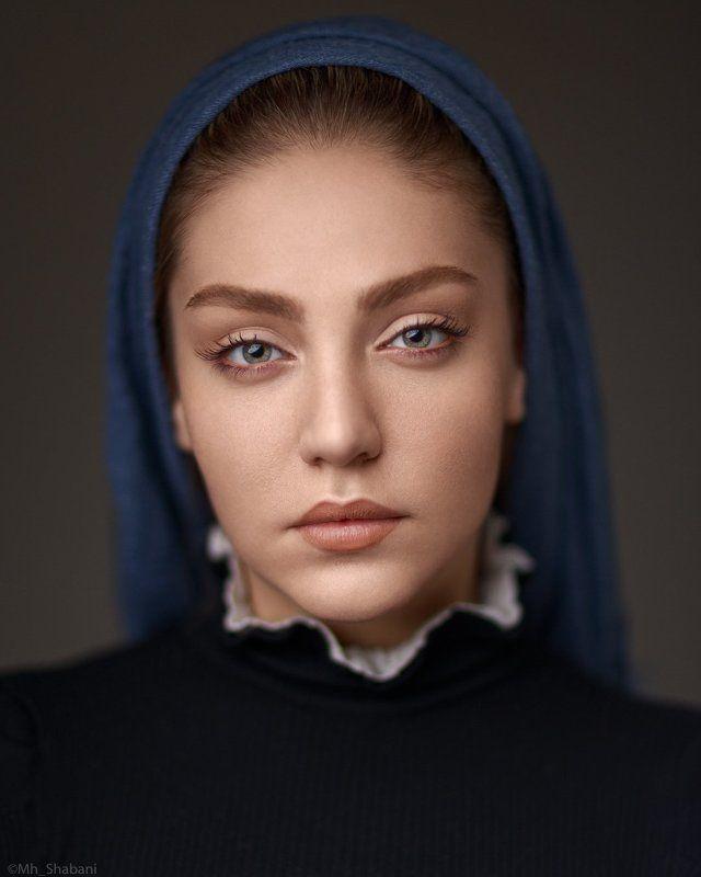portrait, beauty, headshot, studio, lighting, profoto, canon, face, model, eyes, Baharphoto preview