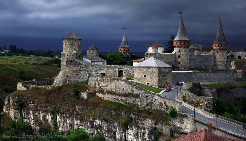 украина, замок, каменец-подольский,гроза Каменец перед грозойphoto preview