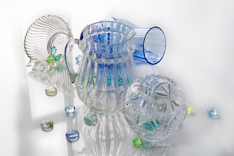 ваза,стекло,хрусталь,в.павлухина, Вазочки, стекляшечки :)photo preview