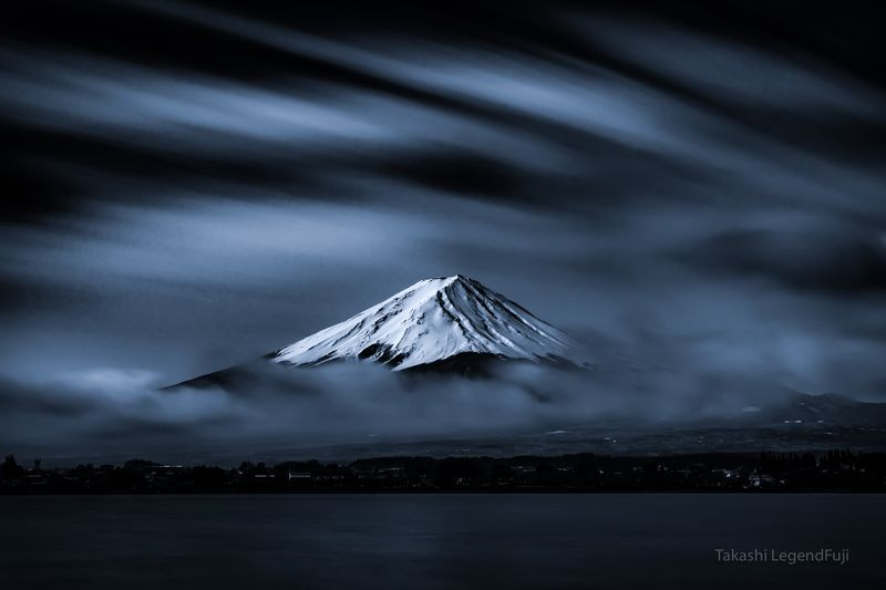 Fuji,mountains,landscapes,clouds,snow,beautiful,amazing,lake,blue,sky,Japan, Snow peakphoto preview