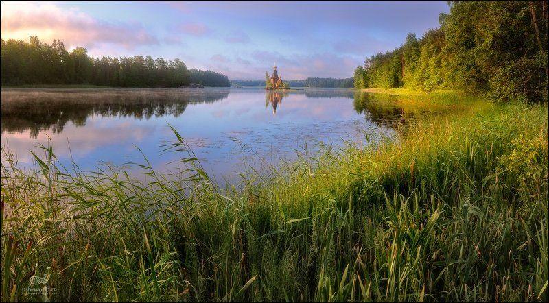 Россия, Вуокса, рассвет,  Утро на Вуоксе...photo preview