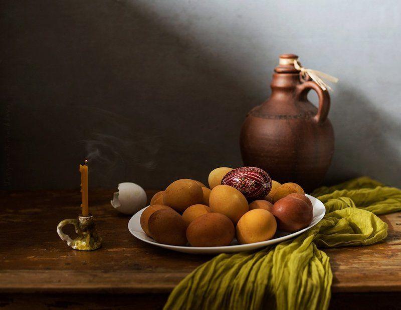 пасха, яйца, свеча, кувшин Дорого яичко ко Христову Дню...photo preview