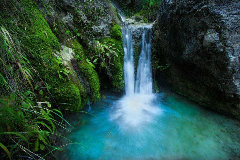 ручей, водопад, турция, благодать Утренний ручейphoto preview