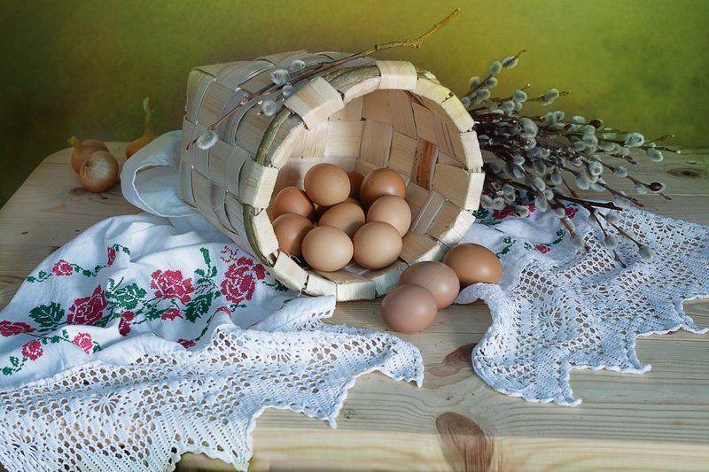 пасха,натюрморт,верба,пасхальное яйцо,в.павлухина, Христо́с воскре́се!Резиденты сайта 35PHOTO!photo preview